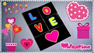 DIY - ENDLESS LOVE CARD - TUTORIAL / VALENTINE CARD MAKING / CARD FOR BOYFRIEND