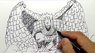 KEREN BANGET, cara menggambar susanoo sasuke,,, mudah dan cepat lansung spidol,,,