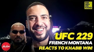 UFC 229: French Montana Reacts to Khabib's Win Over Conor McGregor, Brawl Afterwards!