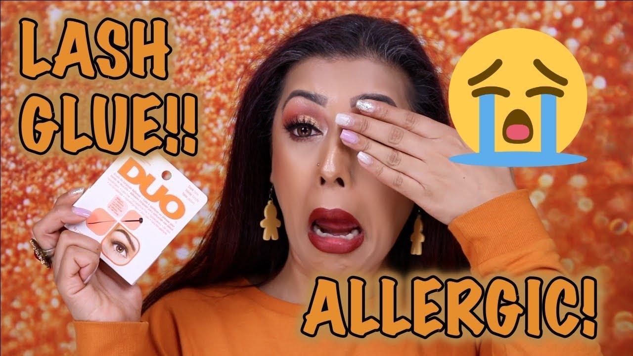 Allergic to LASH GLUE! - YouTube