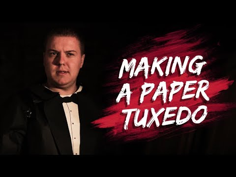 We made a TUXEDO out of PAPER!