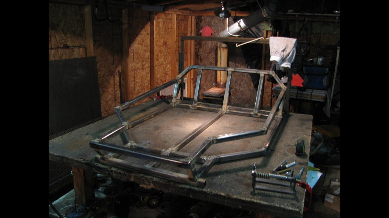 Two seater go kart 2 rear end main frame diy homemade youtube solutioingenieria Choice Image