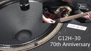 Rivera Speaker comparison Celestion EVH vs Vintage 30 vs T75 vs G12H-30 70th anniversary