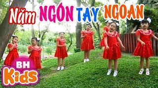 Năm Ngón Tay Ngoan - Xòe Bàn Tay Đếm Ngón Tay ♫♫ Nhạc Thiếu Nhi Vui Nhộn Cho Bé