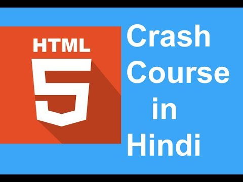 HTML5 Crash Course in Hindi   Beginners Course - Getting Started