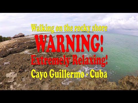 walking-on-the-ocean-rocky-shore.-stress-relief-video---cayo-guillermo,-cuba.