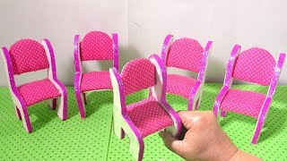 DIY Miniature Table and Chairs Cardboard Crafts Dollhouse How to Make Furniture