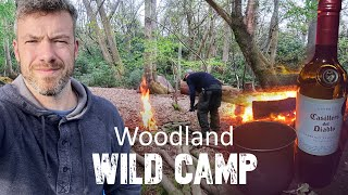 CAMPING IN THE WOODS / WOODLAND  WILD CAMPING / campfire cooking / One Tigris tent