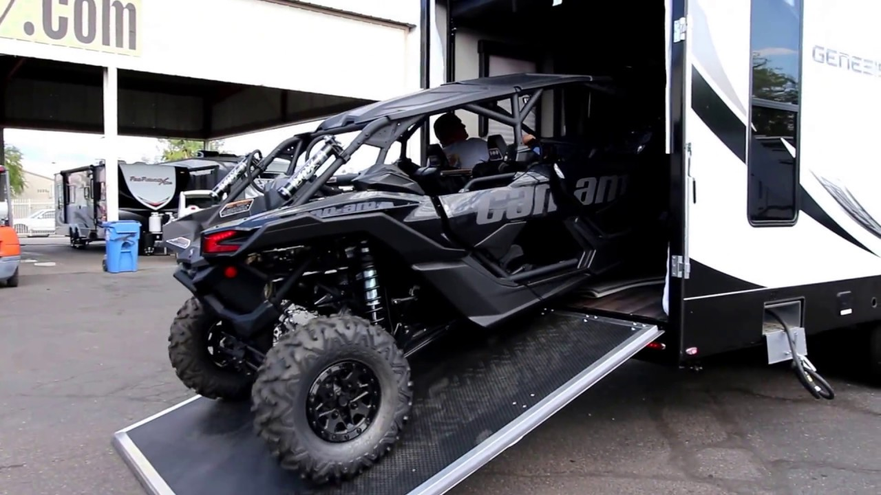 2017 Can Am Maverick 4 Seater >> 2018 Genesis Supreme 37 CKXL Fits a 2018 Can-am X3 XRS 4 seater with room to spare! - YouTube