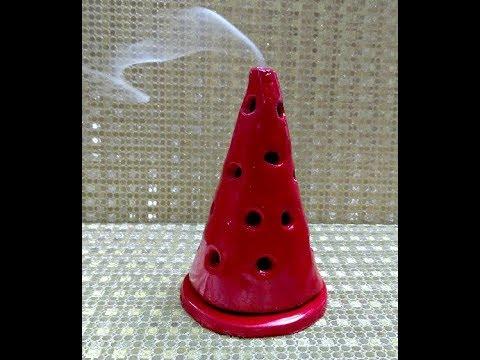 DIY Incense Stick Holder, Clay Incense Cone Burner, Shilpkar Incense Burner,