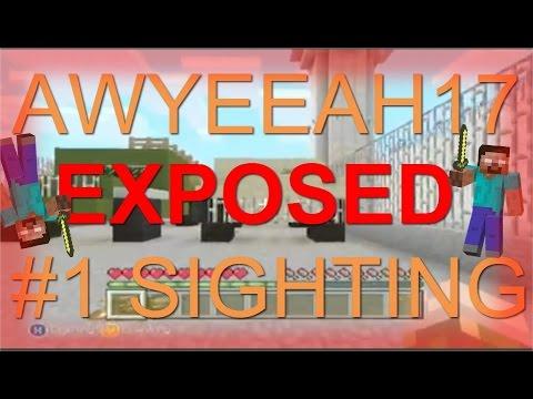 Minecraft - AWYEAAH17 Herobrine Sighting EXPOSED