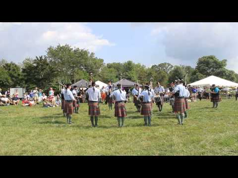 Greater Richmond pipe band at the Virginia Scottish games 2015