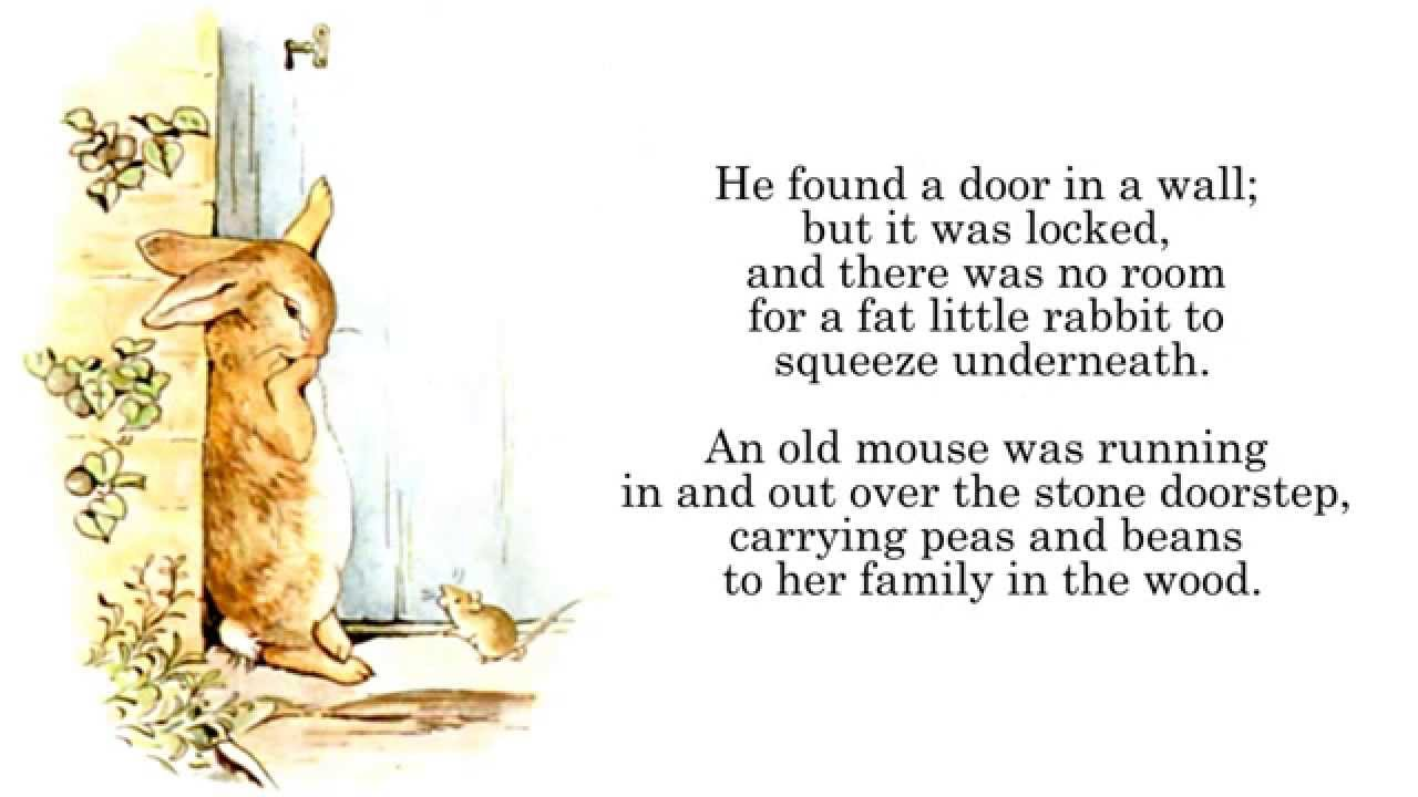 Beatrix Potter | The Tale of Peter Rabbit Audiobook Read-Along ...