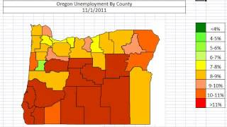 Map: Oregon Unemployment By County October 2013