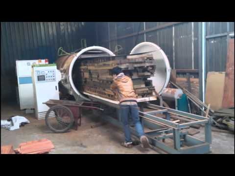 SAGA High Frequency Vacuum Wood Drying Machine Wood Kiln Dryer