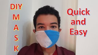 Corona Virus Mask : COVID-19 DIY Easy and Quick | How to make mask