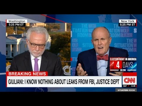 Rudy Giuliani Short Circuits When Asked When He Knew About FBI Clinton Info