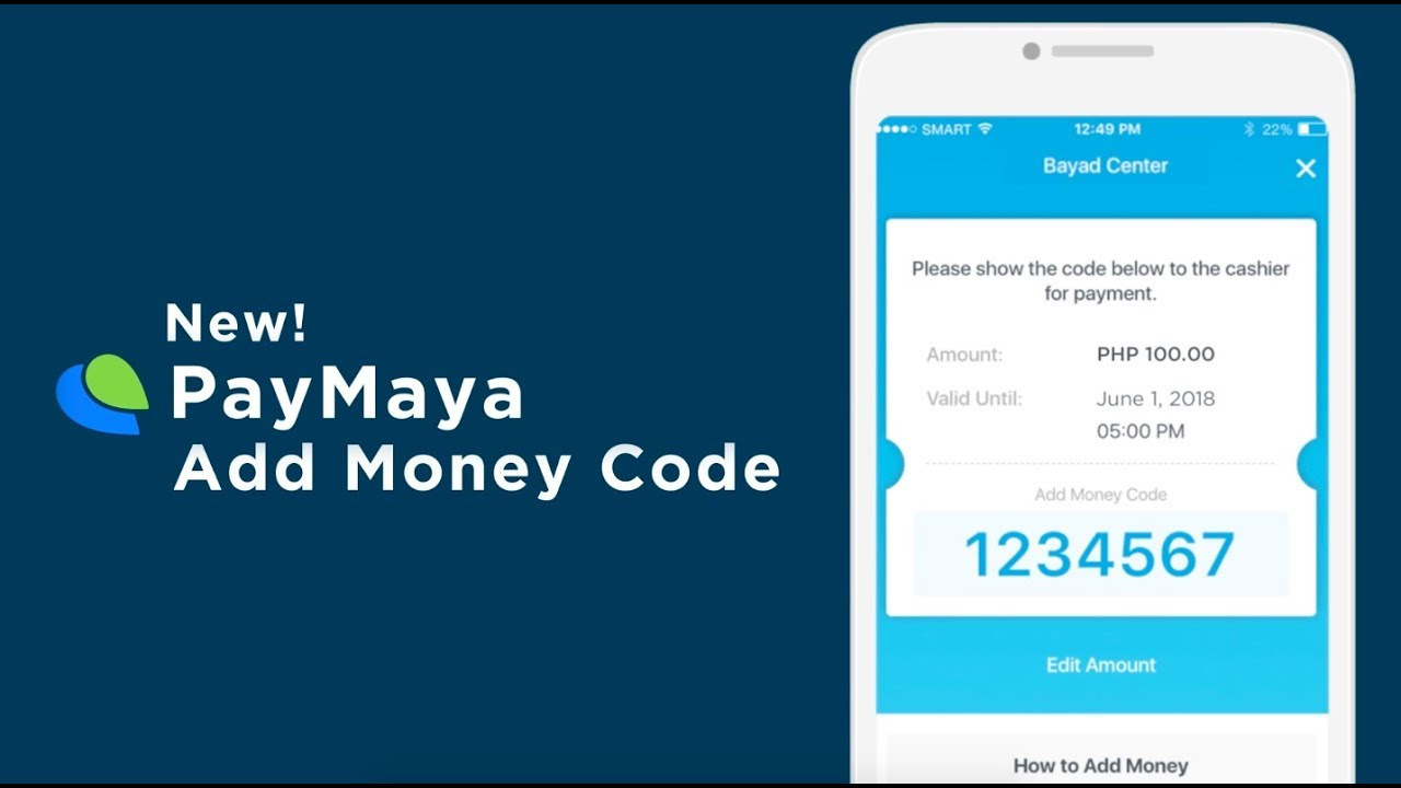 How To Generate An Add Money Code Through The Paymaya