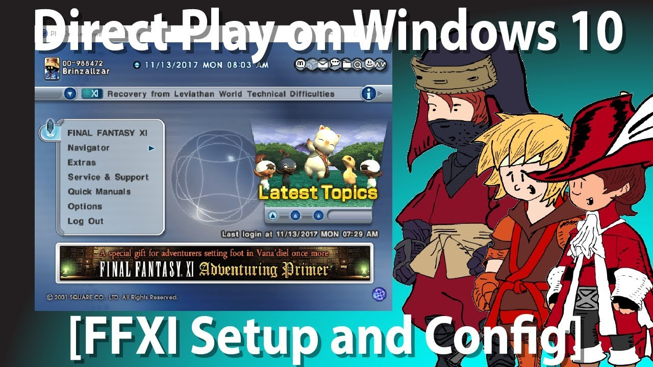 How to get Final Fantasy XI to run on Windows 10 [How to turn on Direct  Play for Legacy Games]