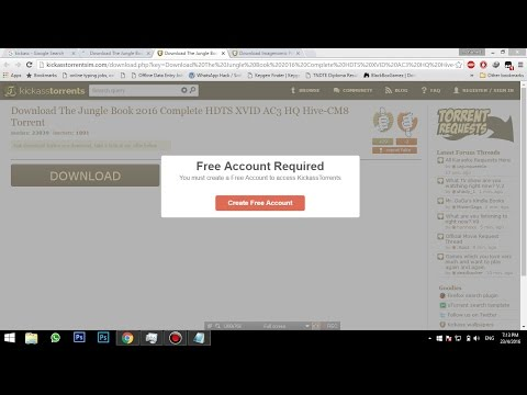 Kickass Free Acount Required Problem Fix ...