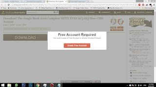 Kickass Free Acount Required Problem Fix  2016