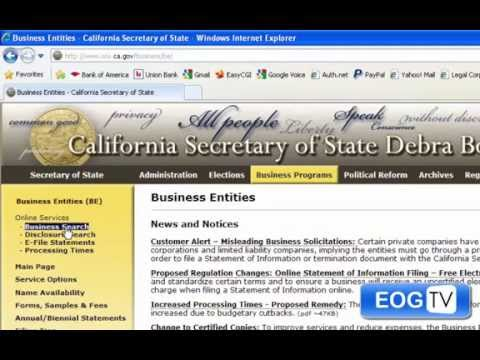How to Search a Corporation in California