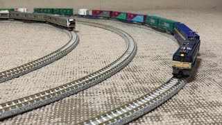 JR中央本線3両編成E353系と 5両編成E233-3000系近郊電車(増備型)+国鉄ED62電気機関車+コキ107形+106形+102形+103形+104形+102形+104形が走行!