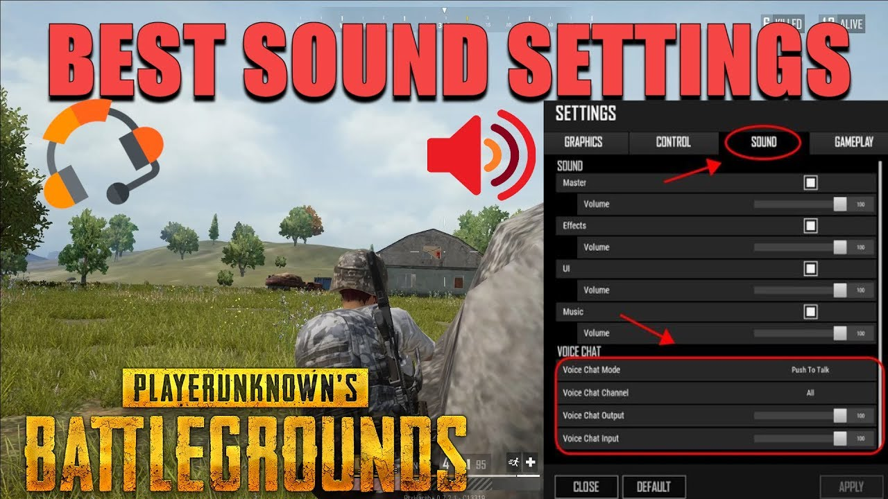 BEST SOUND SETTINGS FOR PUBG LITE