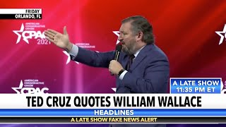 William Wallace Drew Inspiration From Ted Cruz