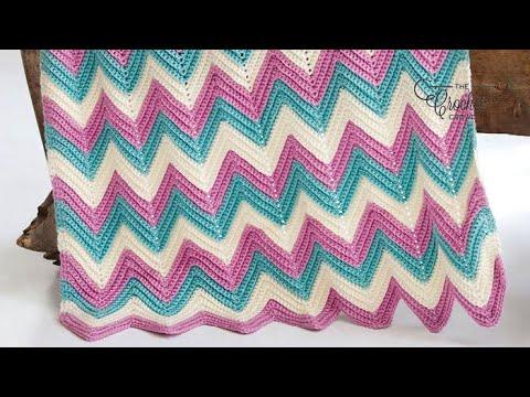 Crochet Baby Wave Blanket Youtube