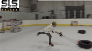 Inseason Squirt Hockey Lesson Catching the Pass & Shooting 11-1-18