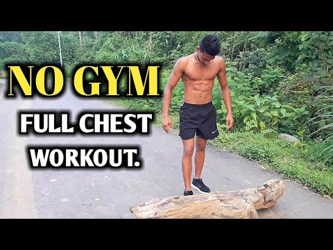 No Gym Full Chest Workout (No Equipment needed) | ANISH FITNESS |