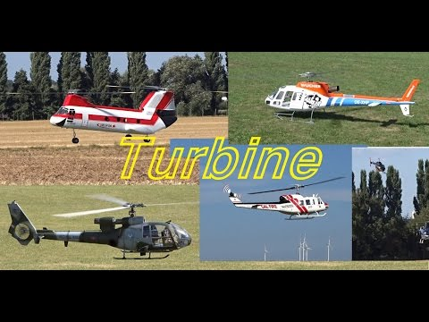 Big RC Scale Helicopter (Turbine compilation)