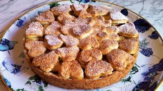 Яблочный Пирог из Песочного Теста(Очень Вкусно)/Пирог с Яблоками/Apple Pie/Простой Рецепт