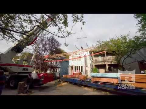 Downtown Toronto High Quality PreFab Home Assembly – Royal Homes