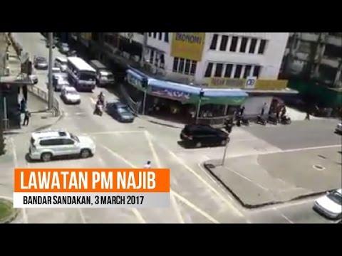 Sandakan - Lawatan Najib