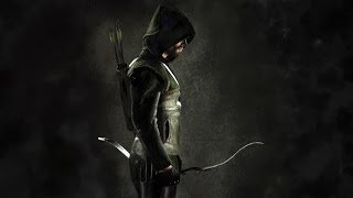 Speed Painting : Arrow - Oliver Queen ( Photoshop CS5 Portrait Drawing )