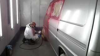 volkswagen  Transporter t4 spraying candy red