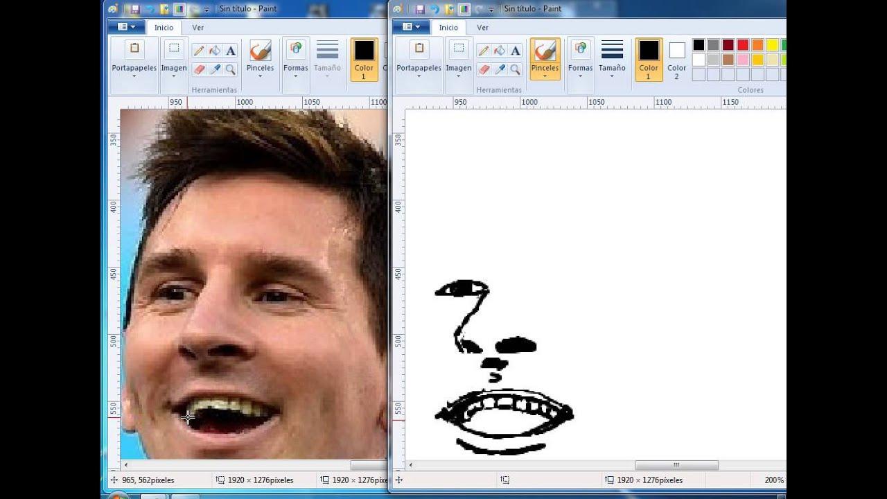 Messi en Paint  Parte 1  YouTube