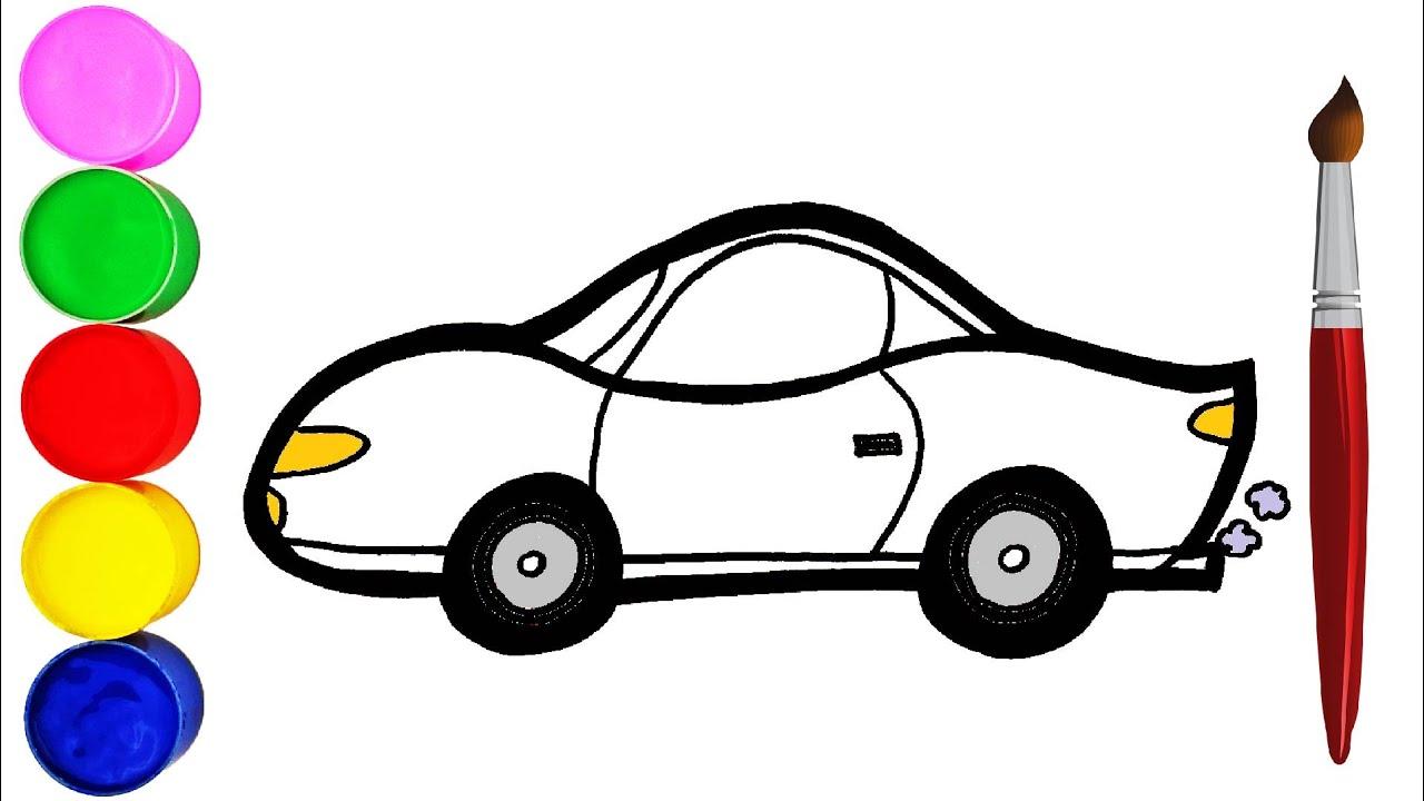 Auto Zeichnen und Malen Einfach für Kinder - YouTube