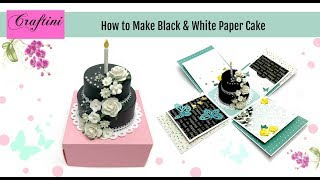DIY: How to make paper cake for explosion box
