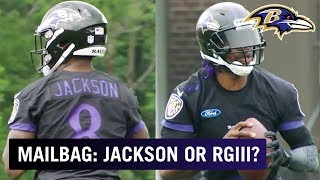 Will Lamar Jackson or RGIII Start in the Hall of Fame Game? | Ravens Mailbag