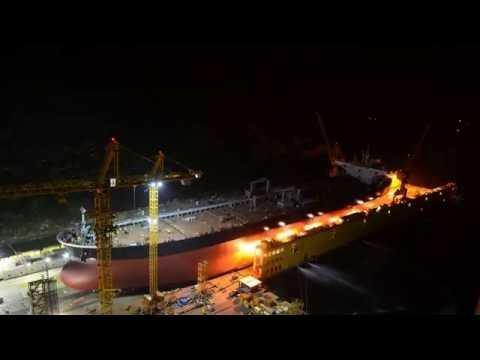 Suezmax - 158,000dwt COT LOADOUT [원유운반선 - TIMELAPSE]