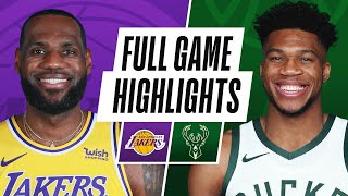 LAKERS at BUCKS | FULL GAME HIGHLIGHTS | January 21, 2021