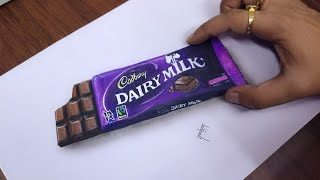 Drawing Cadbury Dairy Milk Chocolate | NV Arts
