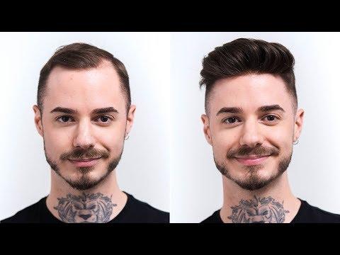 faux-hawk-fade-cut-summer-trend-2019-|-transformation-with-hair-system-|-hairsystems-heydecke