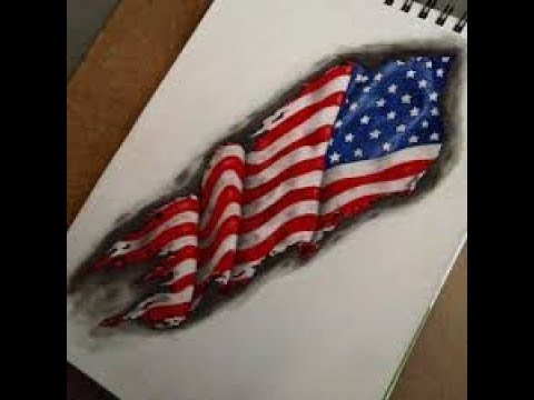 amazing american flag drawing