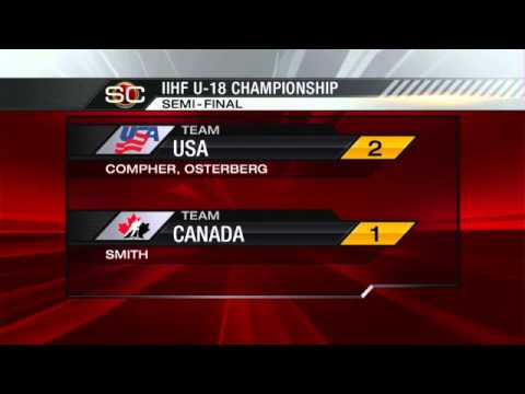 USA Vs. Canada (2-1) - SF - 2012 IIHF Ice Hockey U18 World Championship