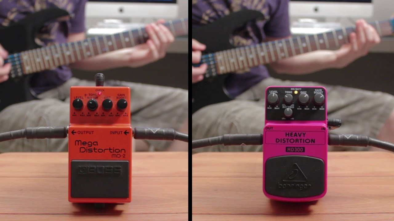 boss mega distortion md 2 vs behringer heavy distortion hd300
