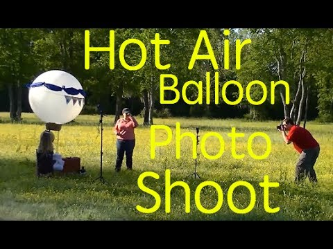 Steampunk Hot Air Balloon Photo Shoot Strobist Youtube